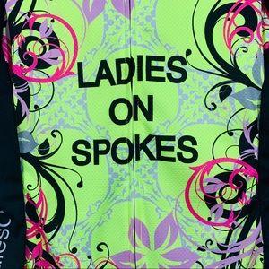 Castelli Tops - NWT Castelli women's ladies on spokes cycling zip